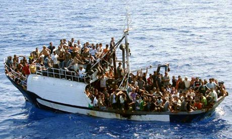 Migrants in Mediterranean
