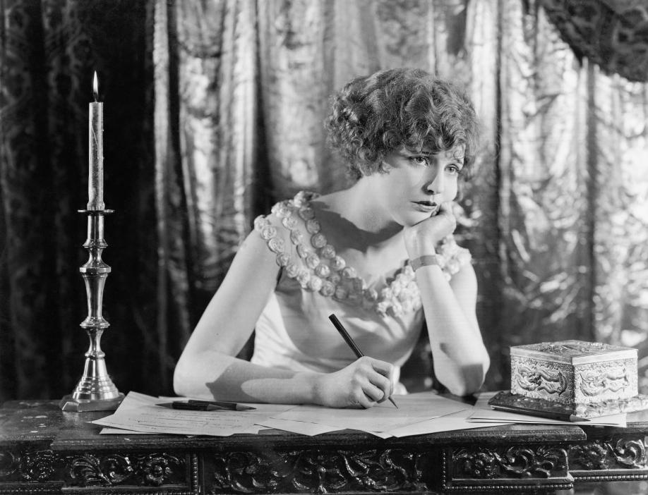 Woman Writing Vintage