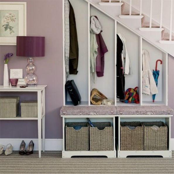 storage-ideas-under-stairs-in-hallway